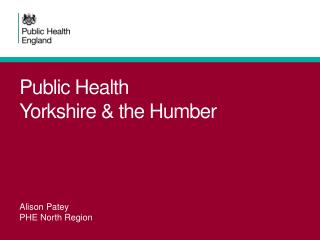 Public Health Yorkshire & the Humber