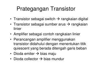 Prategangan Transistor