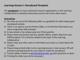 Learning Session 1 Storyboard Template