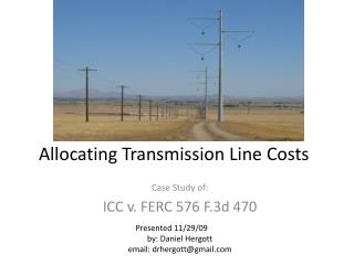 Allocating Transmission Line Costs