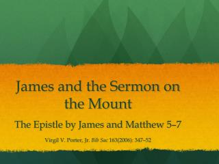 James and the Sermon on the Mount