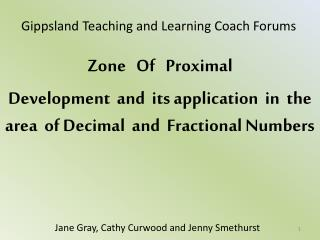 Gippsland Teaching and Learning Coach Forums