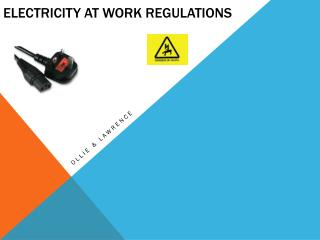 Electricity at work Regulations