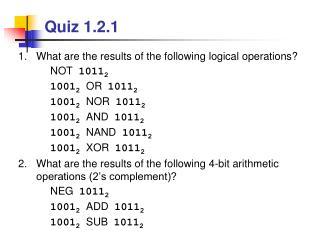 Quiz 1.2.1