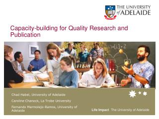 Capacity-building for Quality Research and Publication