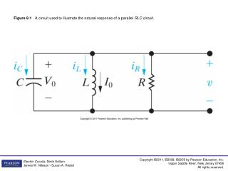 Figure 8.1    A circuit used to illustrate the natural response of a parallel  RLC circuit.