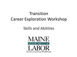 Transition  Career Exploration Workshop
