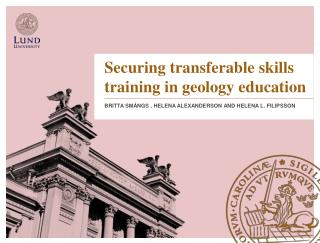 Securing  transferable  skills training  in  geology education