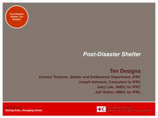 Post-Disaster Shelter