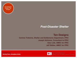 Post-Disaster Shelter