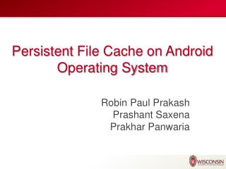 Persistent  File Cache on Android Operating System