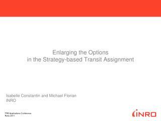 Enlarging the Options  in the Strategy-based Transit Assignment