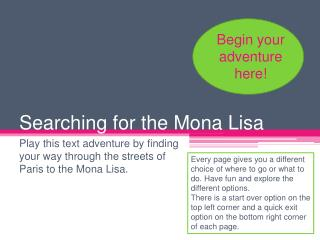 Searching for the Mona Lisa