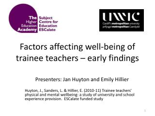 Factors affecting well-being of trainee teachers – early findings