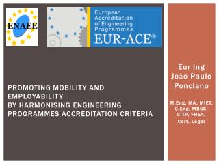 Eur Ing Jo ã o Paulo Ponciano M.Eng, MA, MIET, C.Eng, MBCS, CITP, FHEA,  Cert. Legal