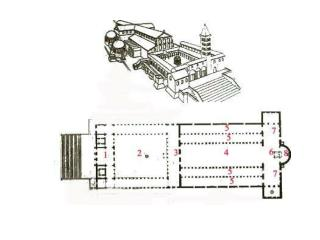 Propylaeum - the entrance building of a sacred precinct, whether church or imperial palace.