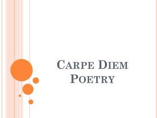 Carpe Diem Poetry