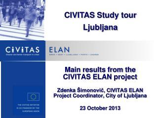 CIVITAS  Study tour Ljubljana