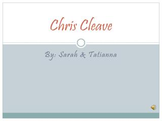 Chris Cleave