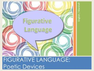 FIGURATIVE LANGUAGE:  Poetic Devices