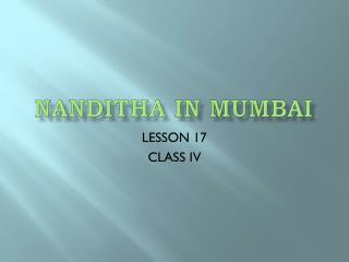 NANDITHA IN MUMBAI