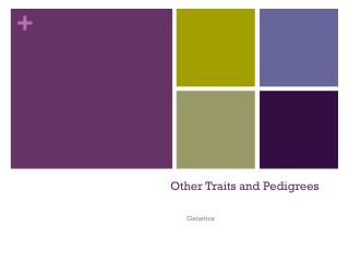 Other Traits and Pedigrees
