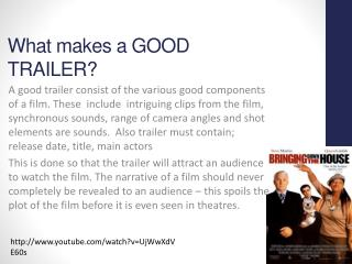 What makes a GOOD TRAILER?