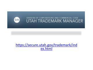https://secure.utah/trademark/ index.html