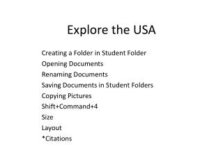 Explore the USA