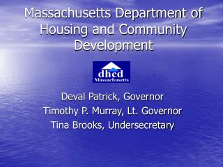 Massachusetts Department of Housing and Community Development