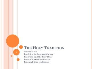 The Holy Tradition