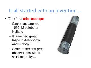 It all started with an invention….