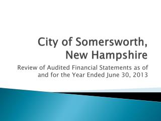 City of Somersworth, New Hampshire