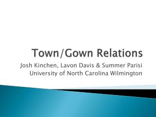 Town/Gown Relations