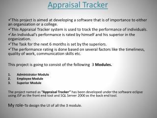 Appraisal Tracker