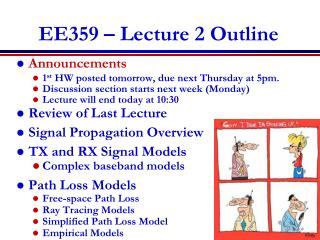 EE359 � Lecture 2 Outline