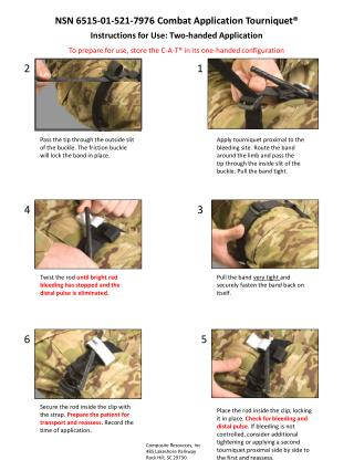 NSN 6515-01-521-7976  Combat  Application Tourniquet�