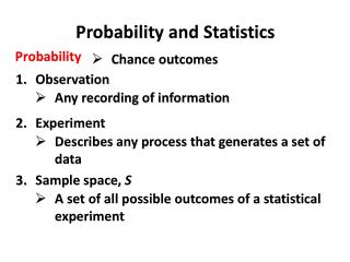 Probabilit y and Statistics