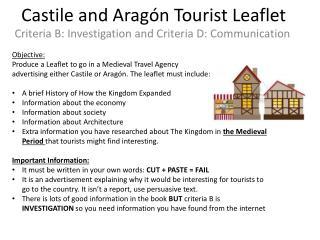 Castile  and Aragón  Tourist Leaflet