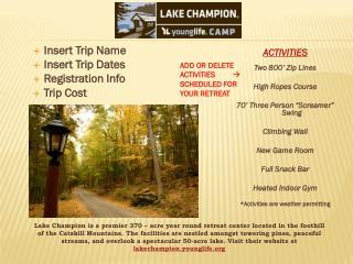 Insert Trip Name Insert Trip Dates Registration  Info Trip  Cost