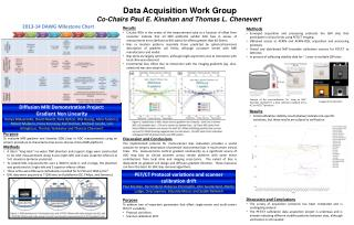 Data Acquisition Work  Group Co-Chairs Paul E.  Kinahan and  Thomas L. Chenevert
