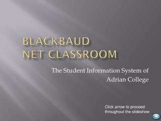 Blackbaud Net Classroom