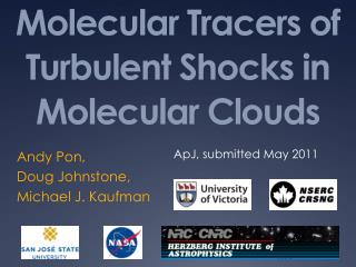 Molecular Tracers of Turbulent Shocks in Molecular Clouds