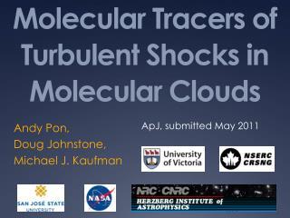 Molecular Tracers of Turbulent Shocks in Molecular Clouds