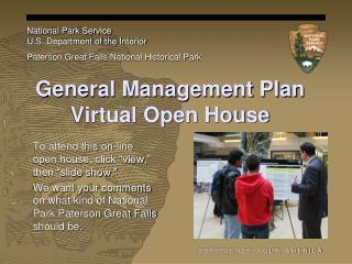 General Management Plan Virtual Open House