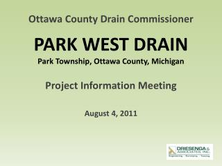 PARK WEST DRAIN Park Township, Ottawa County, Michigan