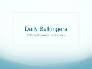 Daily Bellringer s