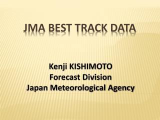 JMA best track data