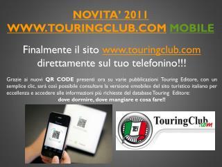 NOVITA' 2011 touringclub MOBILE