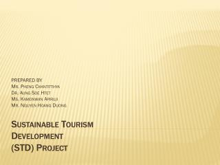 Sustainable Tourism  Development (STD ) Project
